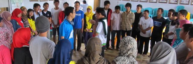 Group activity in Indonesia
