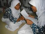 Girls Talking at Youth Program in Indonesia